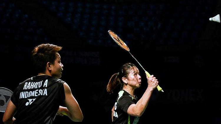 Ganda putri Indonesia Greysia Polii Apriyani Rahayu berlaga di India Open 2019, Minggu (31/03/19). Copyright: Mark Phelan/Badminton Photo