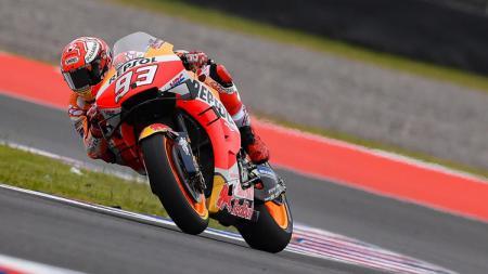 Pembalap Repsol Honda Marc Marquez di MotoGP Argentina 2019, Senin (01/04/19) dini hari. - INDOSPORT
