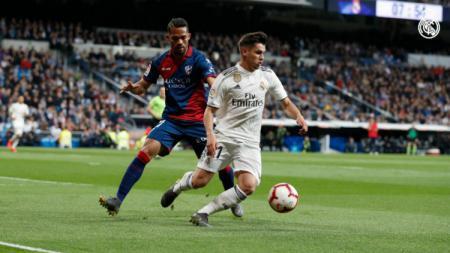 Pemain muda Real Madrid, Brahim Diaz tampil sangat bagus kontra Huesca di pertandingan LaLiga Spanyol, Senin (01/04/19) dini hari WIB. - INDOSPORT