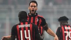 Indosport - Bakayoko dan Suso berselebrasi pasca mencetak gol saat membela AC Milan.