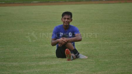 Eks striker Timnas Indonesia, Yongki Aribowo saat menjalani latihan perdana Sriwijaya FC untuk persiapan Liga 2 2019, Senin (1/4/19). - INDOSPORT
