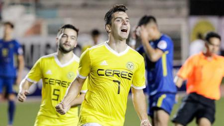 Bienve Maranon striker Ceres FC - INDOSPORT