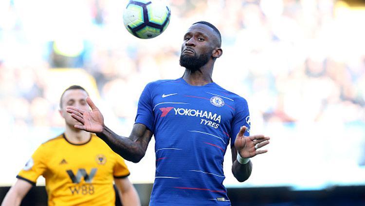 Antonio Rudiger, bek tengah Chelsea. Copyright: Charlotte Wilson/Offside/Getty Images