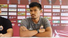 Indosport - Pemain Persija Jakarta, Heri Susanto saat konfrensi pers.