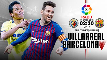 Pertandingan Villarreal vs Barcelona. - INDOSPORT
