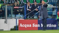 Indosport - Massimiliano Allegri di laga Cagliari vs Juventus.