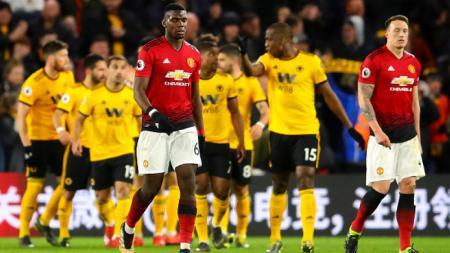 Paul Pogba di Laga Wolves vs Man United - INDOSPORT