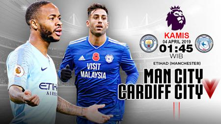 Pertandingan Manchester City vs Cardiff. - INDOSPORT