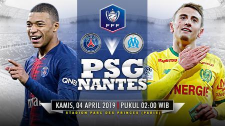 Pertandingan Paris Saint-Germain vs Nantes. - INDOSPORT