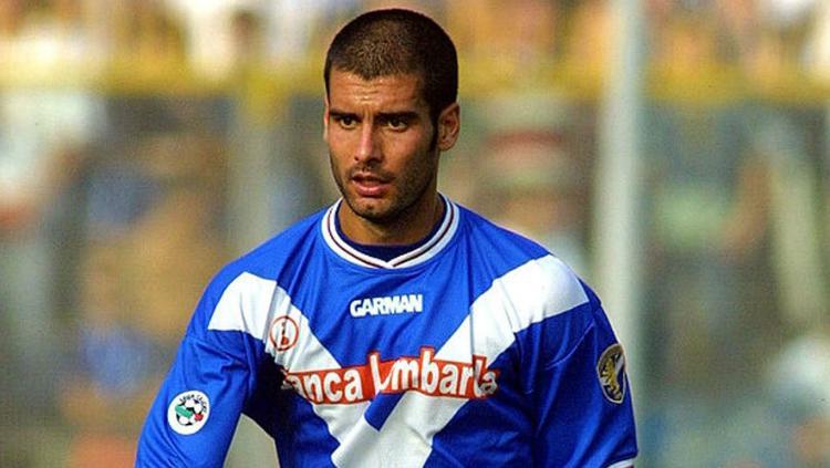 Pep Guardiola semasa masih berada di klub Brescia sebagai pemain. Copyright: telegraph.co.uk