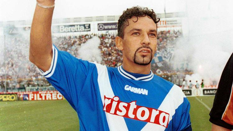 Roberto Baggio semasa memperkuat Brescia. Copyright: dreamteamfc