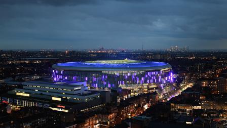 Potret stadion baru Tottenham Hotspur dari udara