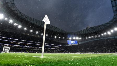 Megahnya stadion baru Tottenham Hotspur selama Upacara Pembukaan Stadion Tottenham Hotspur sebelum pertandingan Liga Premier Inggris antara Tottenham Hotspur dan Crystal Palace