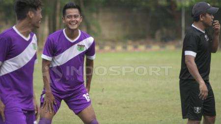 M Roby saat menjalani sesi latihan bersama Persita Tangerang. Roihan Susilo/INDOSPORT - INDOSPORT