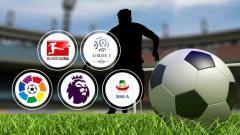 Indosport - Berikut adalah rekap hasil liga-liga elite Eropa di mana Liverpool dirampok serta Real Madrid dan Barcelona memalukan.