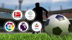 Indosport - Logo-logo liga Elite Eropa.