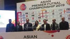 Indosport - Gusti Randa, saat prescon Asian Premier Futsal Championship 2019./Petrus Manus Da'Yerimon/Indosport.com