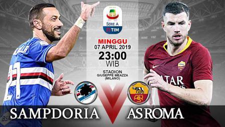Pertandingan Sampdoria vs AS Roma - INDOSPORT