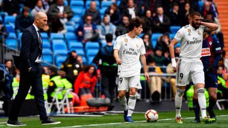 Situasi pertandingan Real Madrid vs Eibar di ajang LaLiga Spanyol 2018/2019, Sabtu (06/04/19). - INDOSPORT