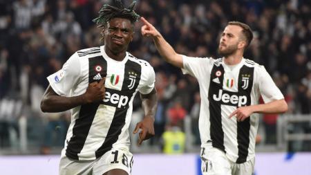 Moise Kean (kiri) lebih memilih Everton ketimbang Arsenal jika nanti hengkang dari Juventus. - INDOSPORT
