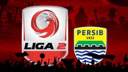 Logo Liga 2 dan logo Persib Bandung - INDOSPORT