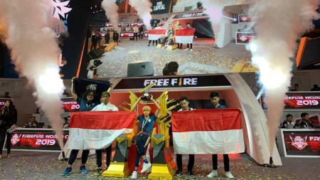 EVOS Capital Free Fire saat menjuarai Free Fire World Cup 2019 di Thailand, Minggu (07/04/19) malam WIB. instagram.com/nahrawi_imam - INDOSPORT