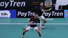 Indosport - Ganda putra Indonesia Muhammad Shohibul Fikri/Bagas Maulana di Spain Masters 2020.