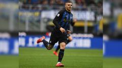 Indosport - Mauro Icardi di laga Inter Milan vs Atalanta di Serie A Italia 2018/2019, Minggu (07/04/19).