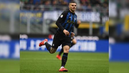 Kapten Mauro Icardi di laga Inter Milan vs Atalanta di Serie A Italia 2018/2019, Minggu (07/04/19). - INDOSPORT
