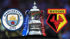 Indosport - Manchester City vs Watford di final Piala FA 2018-19. Copyright: INDOSPORT