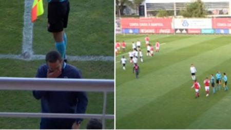 Laga liga Portugal antara Braga vs Benfica berakhir lebih cepat usai ibunda pemain Braga, David Viega meninggal dunia - INDOSPORT