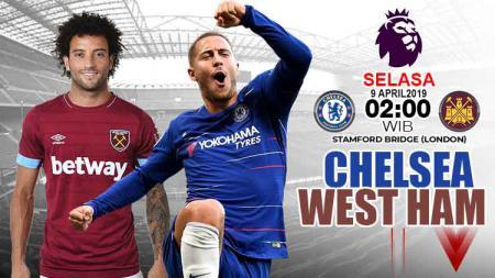 Prediksi pertandingan Liga Primer inggris Chelsea vs West Ham(8/4/2019). - INDOSPORT