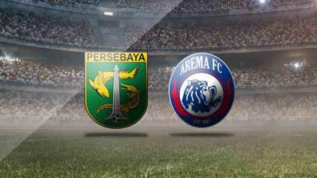 Logo Persebaya Surabaya vs Arema FC. - INDOSPORT