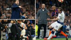 Indosport - Harry Kane mengalami cedera engkel yang mengerikan di pertandingan Liga Champions antara Tottenham vs Manchester City. Getty Images/Express.co.uk