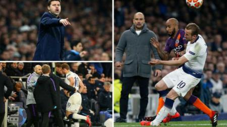 Harry Kane mengalami cedera engkel yang mengerikan di pertandingan Liga Champions antara Tottenham vs Manchester City. Getty Images/Express.co.uk - INDOSPORT