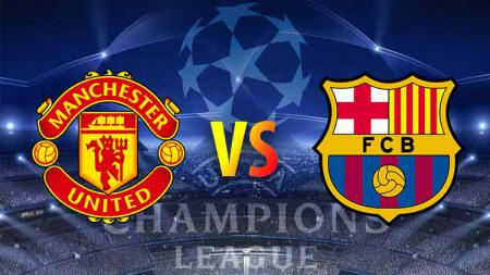 Pertandingan Liga Champions Manchester United vs Barcelona. - INDOSPORT