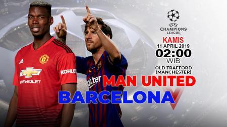 Prediksi pertandingan Manchester United vs Barcelona(10/4/2019). - INDOSPORT