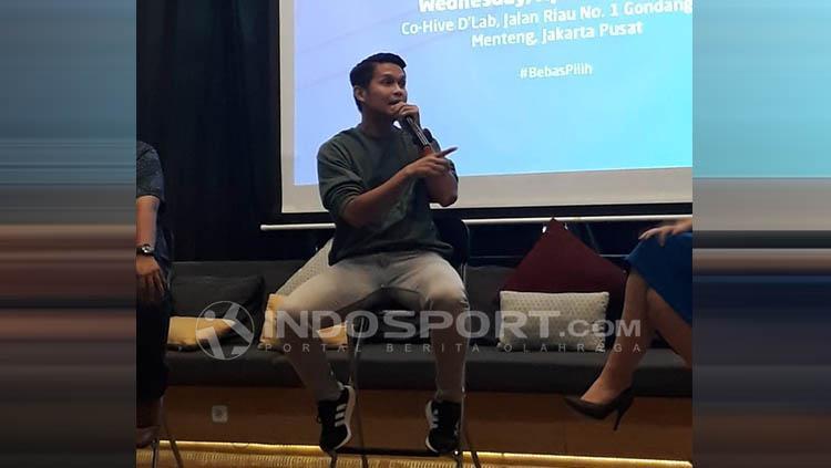 Bayu Aditya, pemain futsal profesional dalam sebuah acara Launching Paket Berlangganan Terbaru MNC Vision dan MNC Play Copyright: Neneng Astrianti/INDOSPORT