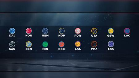 Logo dari Tim-tim NBA di Wilayah Barat. - INDOSPORT