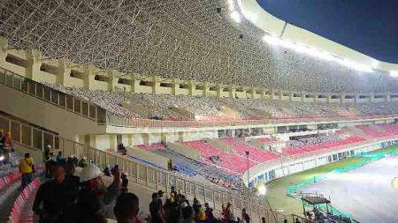 Stadion Papua Bangkit akan menjadi venue utama pada perhelatan PON XX tahun 2020 di Papua. Foto: Sudjarwo/INDOSPORT - INDOSPORT