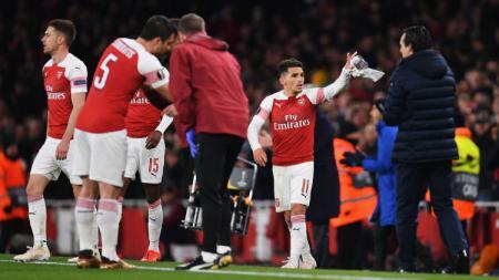 Arsenal berhasil menang atas Napoli di pertandingan leg pertama perempatfinal Liga Europa, Jumat (12/04/19) dini hari. Justin Setterfield/Getty Images - INDOSPORT