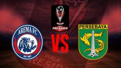 Indosport - Logo pertandingan Arema Fc vs Persebaya.