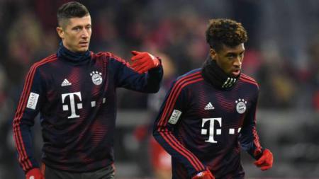 Dua Pemain Bayern Munchen, Robert Lewandowski dan Kingsley Coman - INDOSPORT