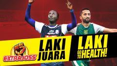 Indosport - Arema FC vs Persebaya Surabaya.