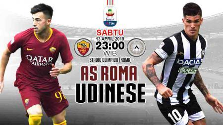 Pertandingan AS Roma vs Udinese. - INDOSPORT