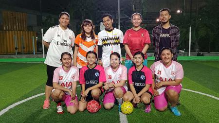 KG Angels, Komunitas Futsal Wanita Untuk Para Awak Media. Foto: Shintya Anya Maharani/INDOSPORT - INDOSPORT