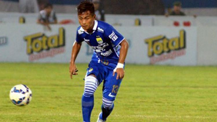 M Agung Pribadi saat berseragam Persib Bandung di Indonesia Super League 2014. (persib.co.id) Copyright: persib.co.id