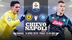 Indosport - Pertandingan Chievo vs Napoli.