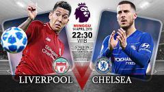 Indosport - Pertandingan Liverpool vs Chelsea.