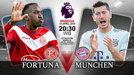 Pertandingan Fortuna Duesseldorf vs Bayern Munchen. - INDOSPORT